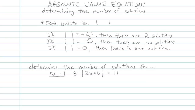 Absolute Value Equations - Problem 7