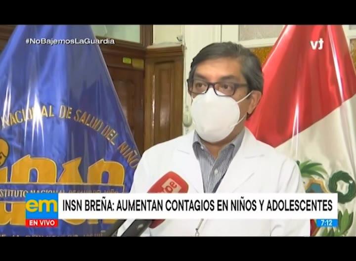 INSN Breña alerta que contagios en niños y adolescentes están aumentando