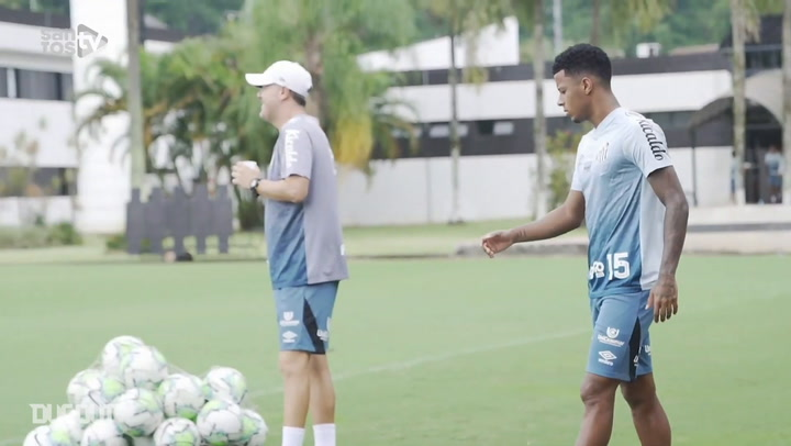 Santos train to face Inter without players infected with covid-19