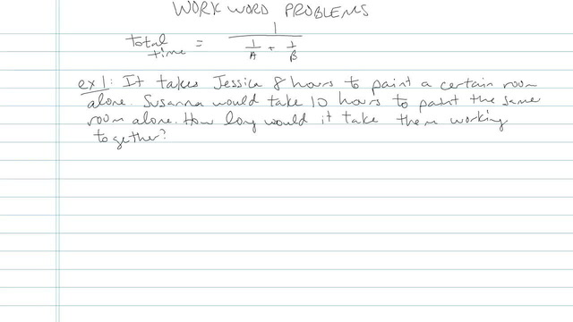 Work Word Problems - Problem 3