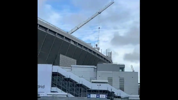 Las obras del Bernabéu no cesan pese a la crisis del coronavirus