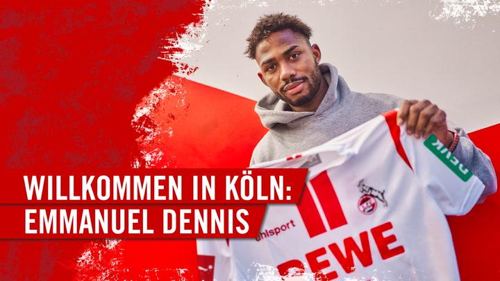 Willkommen in Köln: Emmanuel Dennis
