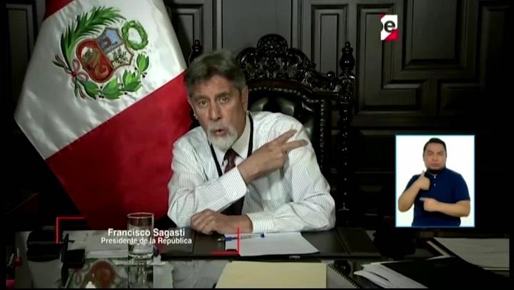"""Presidente Sagasti confirma que se vacunará: """"Seré uno de los primeros en vacunarme"""""""