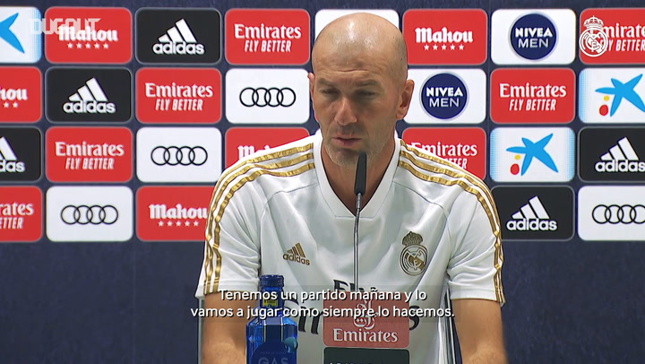 Zidane: 'We've got one match to go and we have to respect the competition'