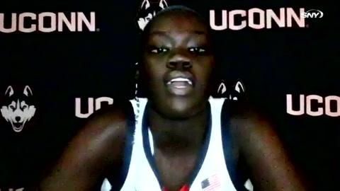 UConn Huskies freshman Piath Gabriel reveals her funniest teammate