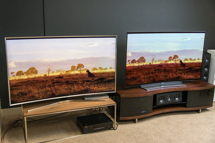 samsung curved tv 70 inch. top tv showdown: samsung js9500 vs. lg eg9600 curved tv 70 inch