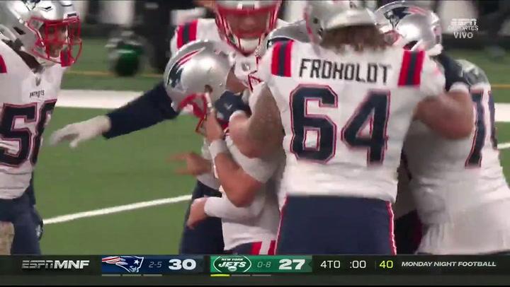 Nick Folk da la victoria a los Patriots ante los Jets