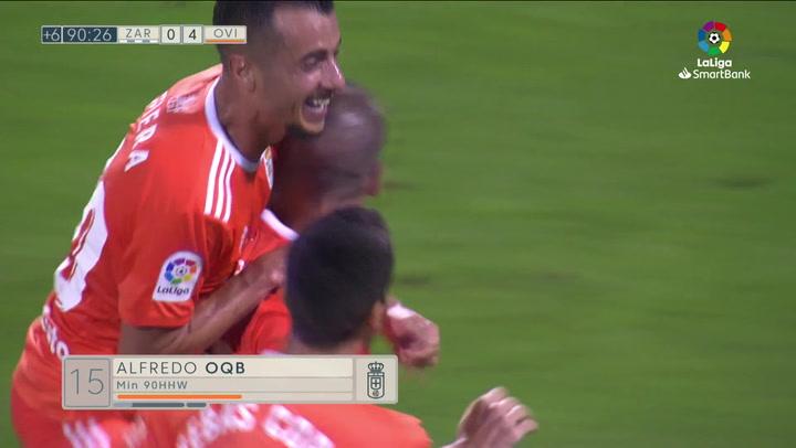 Gol de Ortuño (0-4) en el Zaragoza 2-4 Oviedo