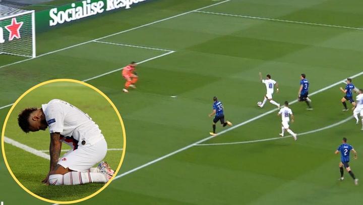 Champions League Atalanta-PSG. Neymar falla dos ocasiones clarísimas ante el portero
