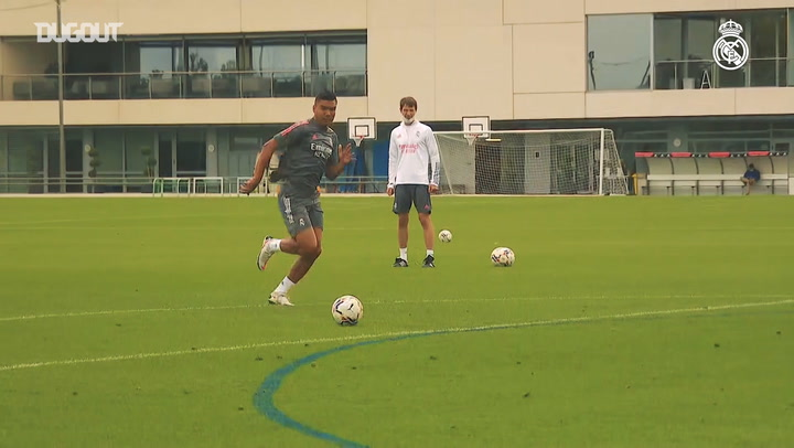 The week's fifth training session at Real Madrid City