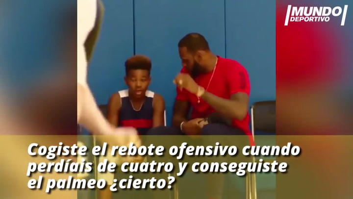 La motivadora charla de Lebron James con su hijo
