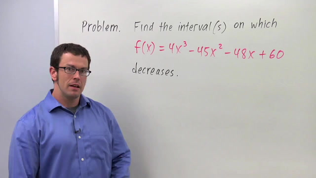 Intervals of Increase and Decrease - Problem 2