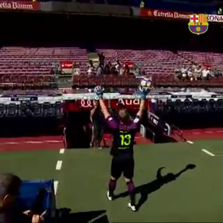 El Barça le desea suerte a Cillessen