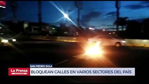 Bloquean calles en varios sectores del país