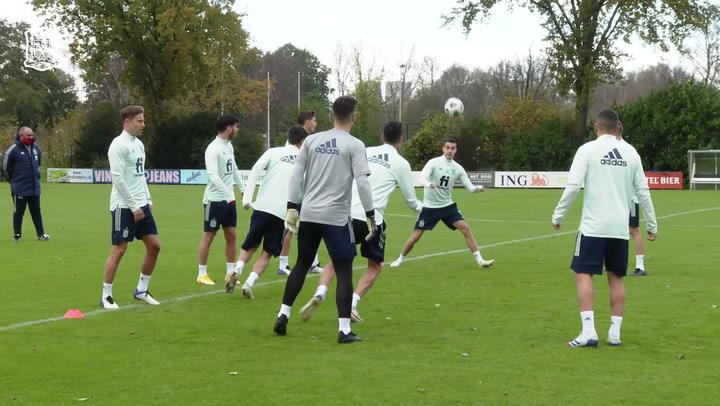 Entrenamiento de la Selección antes de viajar a Basilea