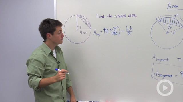 Area of a Segment - Problem 1