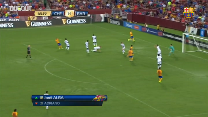 El golazo con efecto de Sandro ante el Chelsea