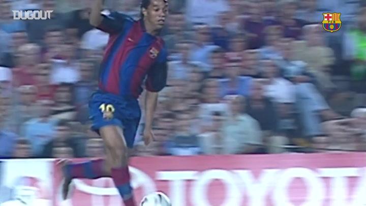 Debut Goals: Ronaldinho Vs Sevilla
