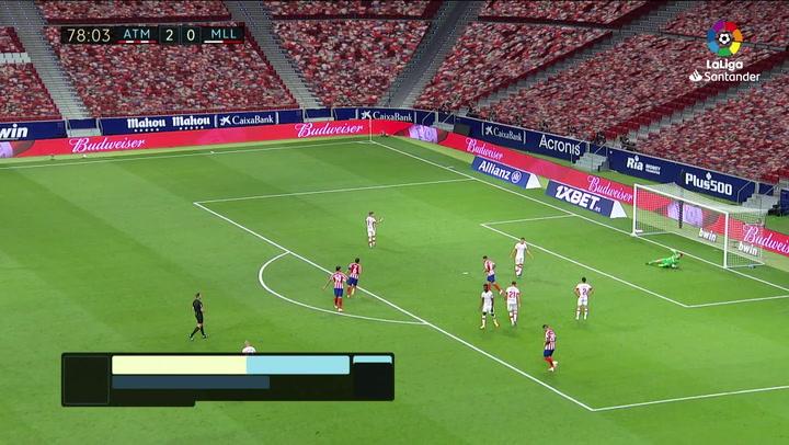 Gol de Koke (3-0) en el Atlético de Madrid 3-0 Mallorca