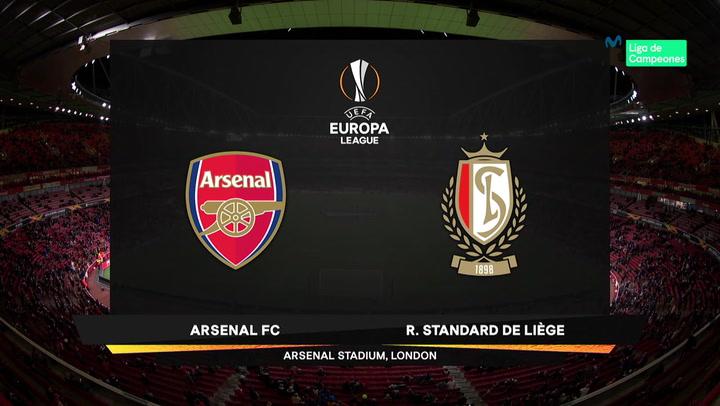 Europa League: Resumen y Goles del Partido Arsenal-Standard Lieja