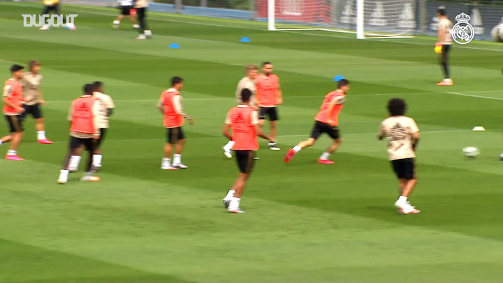Fitness and tactical work in third session of week