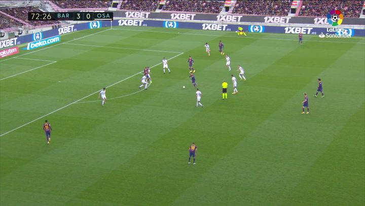 Gol de Messi (4-0) en el Barcelona 4-0 Osasuna