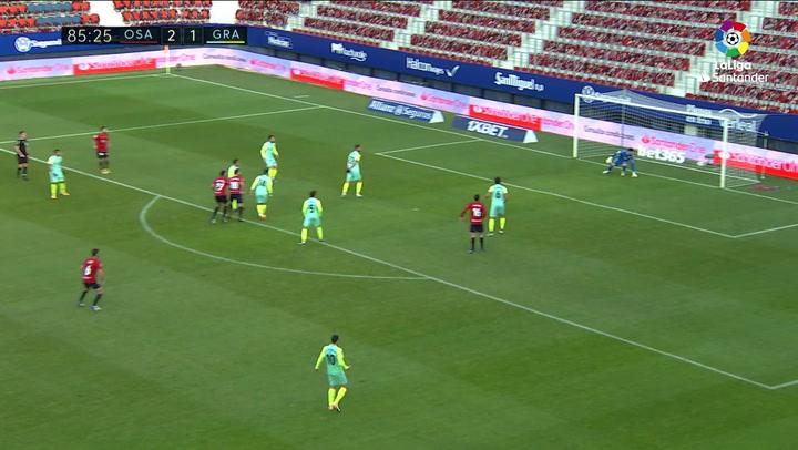 Gol de Moncayola (3-1) en el Osasuna 3-1 Granada