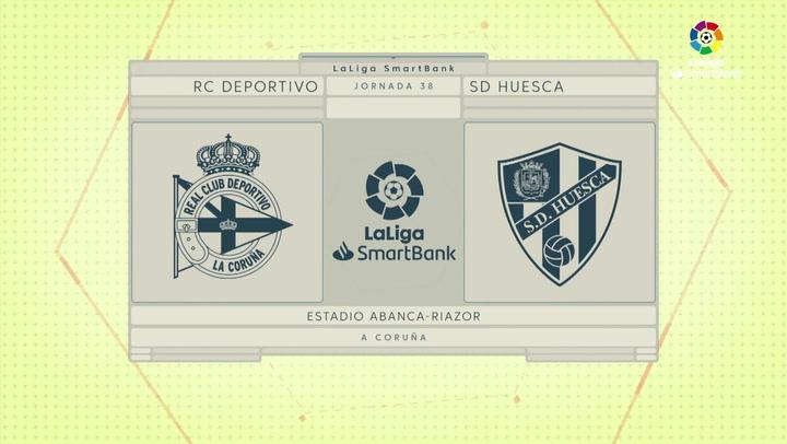 LaLiga SmartBank (J38): Resumen y goles del Deportivo 2-1 Huesca
