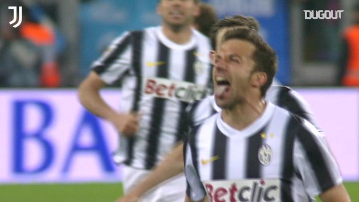 Del Piero's crucial free-kick vs Lazio