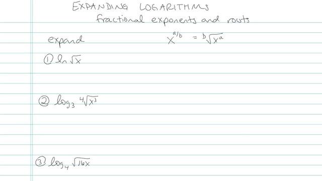 Expanding Logarithms - Problem 6