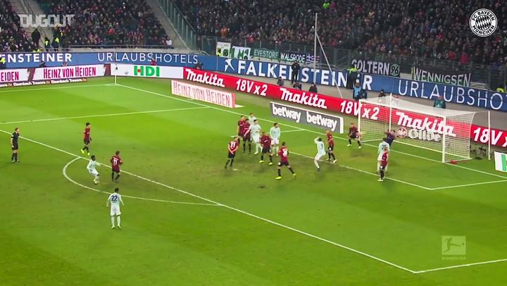 Gols de David Alaba pelo Bayern de Munique