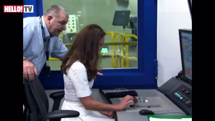 William and Kate visit Rolls Royce in Singapore