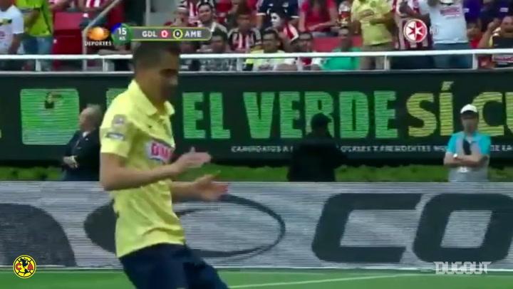 Paul Aguilar's screamer followed by a hilarious celebration
