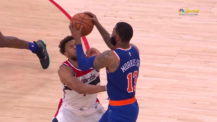 A Marcus Morris se le va la olla en su primer partido con los Knicks