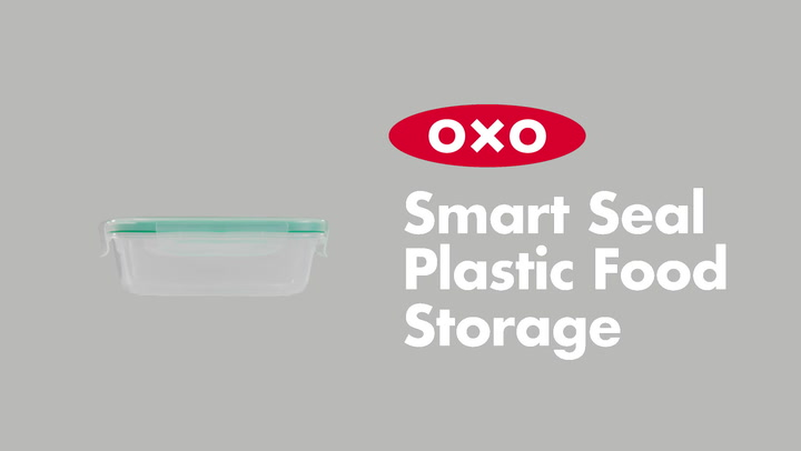 Preview image of OXO Good Grips Smart Seal Snap Plastic Container,  video