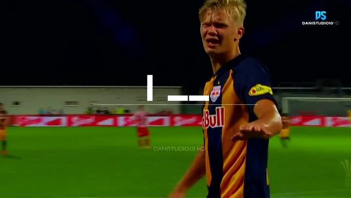 Así juega Erling Haaland, el delantero del Red Bull Salzburg al que sigue media Europa