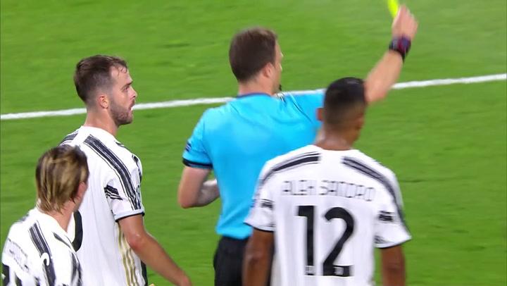 Champions League Juventus-Olympique Lyon. Gol de Cristiano Ronaldo (1-1)