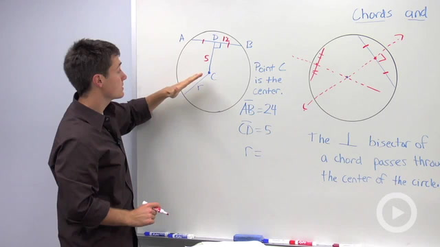 Chords and a Circle's Center - Problem 3