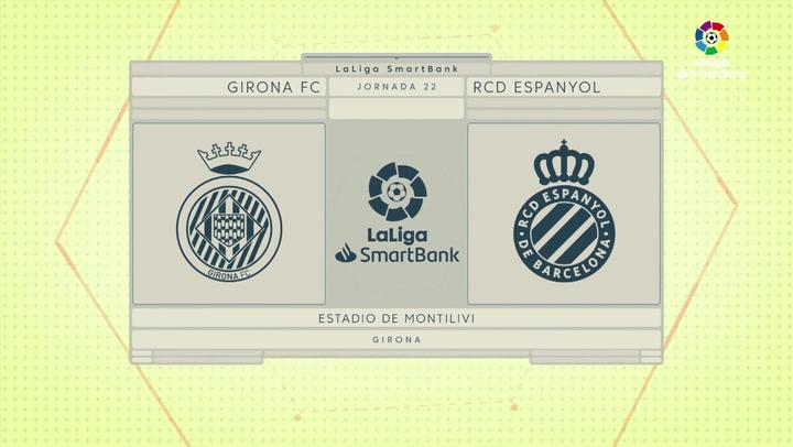 LaLiga SmartBank (J22): Resumen y goles del Girona 1-0 Espanyol