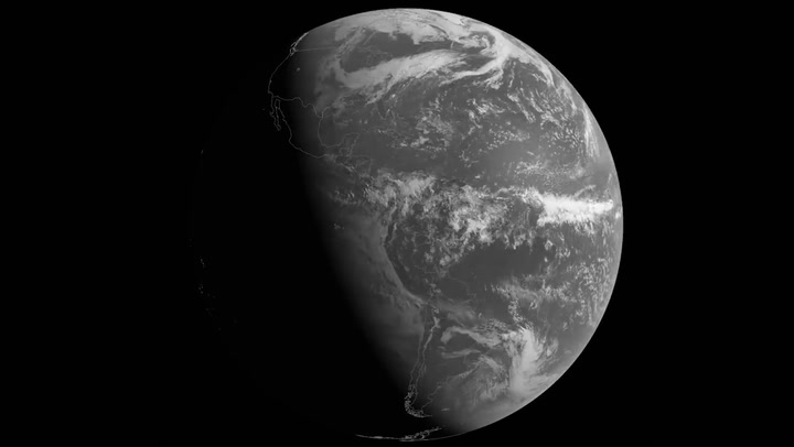 Satellite images show the progression from winter to summer