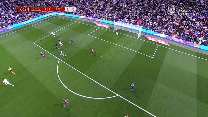 Copa del Rey: Real Madrid-Barça. El partido de Vinicius Jr