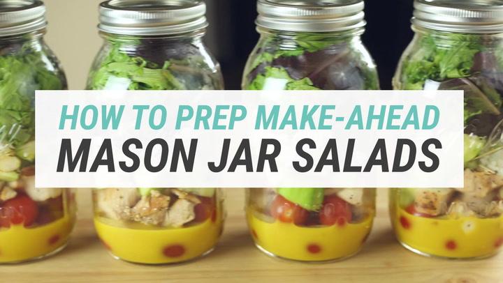 Make-Ahead Mason Jar Salads For The Week + A Killer Clean Honey Mustard  Dressing!