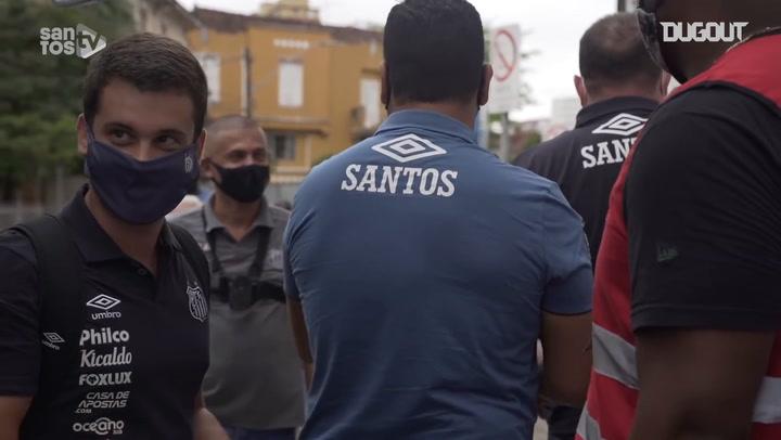 Behind the scenes of Santos' victory against Internacional