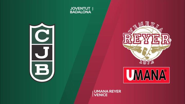 Eurocup: Joventut Badalona - Umana Reyer Venice