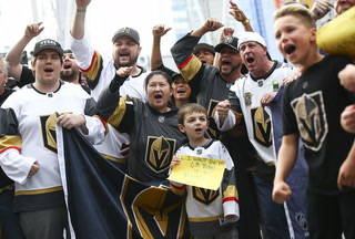 Golden Knights fans saving money on the road