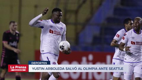 Yustin Arboleda salvó al Olimpia ante Seattle Sounders en la Concachampions