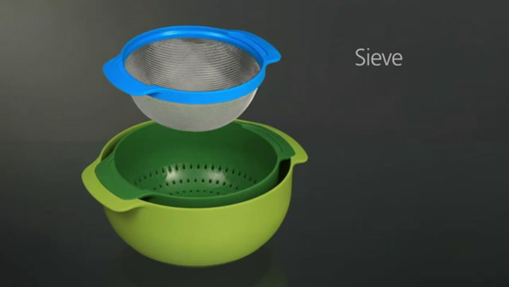 Preview image of Joseph Joseph Multcoloured Nest Kitchen Set, Set o video
