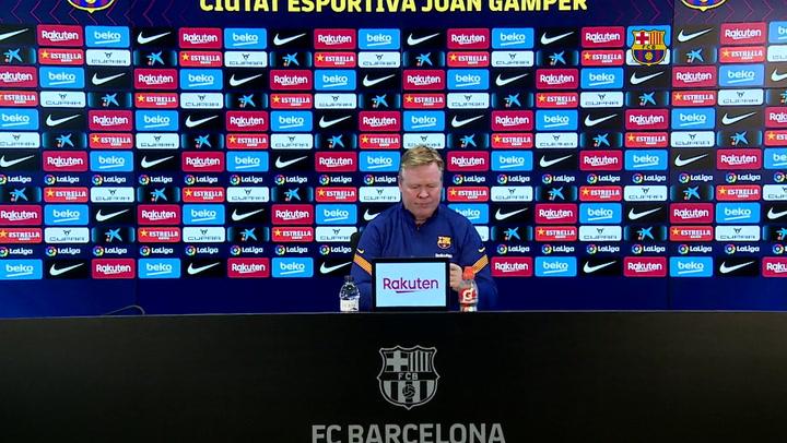Rueda de prensa (completa) del entrenador del FC Barcelona previa al partido ante el Eibar, el 28 de diciembre de 2020.