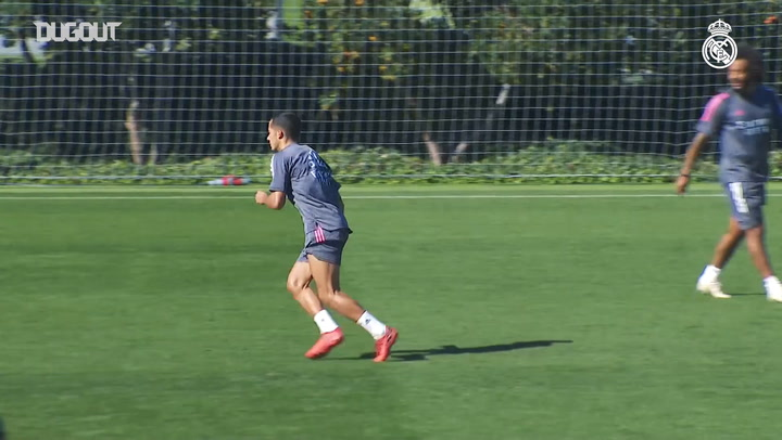 Nacho, Marcelo, Isco; great goals during shooting and finishing drills