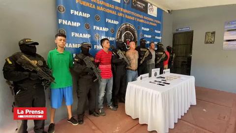 Capturan a cinco supuestos miembros de la pandilla 18